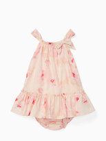 Kate Spade Babies bow neck ruffle dress set