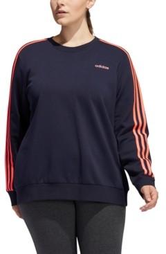 adidas Plus Size Fleece Crewneck Sweatshirt