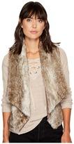 BB Dakota Dwight Faux Fur Fold-Over Collar Vest Women's Vest
