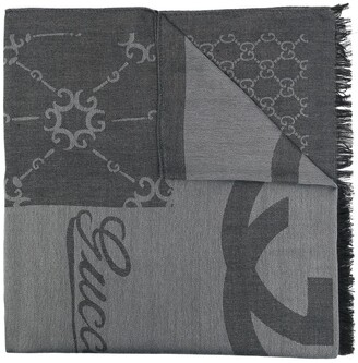 Gucci Pre-Owned Logo-Print Scarf