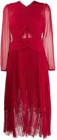 Self-Portrait Smocked Lace Midi Dress