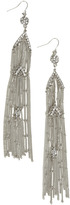 Arden B Small Pendant Fringe Earrings