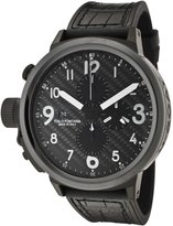 U-Boat 6203 Men's Flightdeck Auto Chron Rubber And Alligator Carbon Fiber Dial Watch