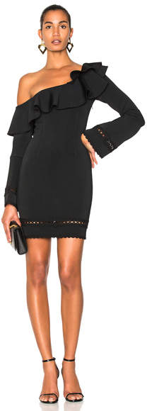 Nicholas Bandage One Shoulder Slim Mini Dress