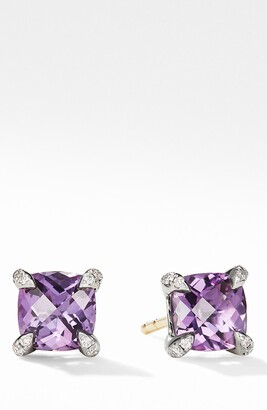 David Yurman Chatelaine(R) Stud Earrings with Amethyst & Diamonds
