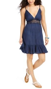 Raviya Sleeveless Flutter-Hem Cover-Up Dress Women's Swimsuit