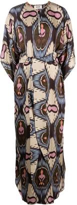 Bazar Deluxe Geometric-Print Long Kaftan Dress
