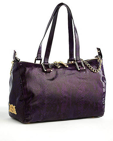 Juicy Couture Silvia Snakeskin-Embossed Leather Satchel Bag