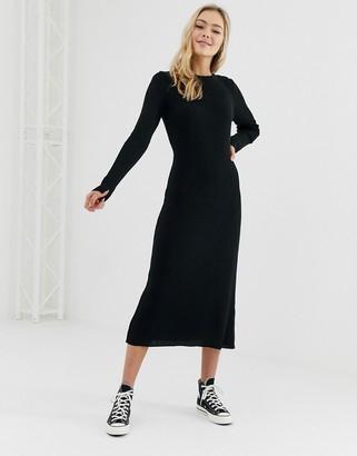 Asos DESIGN rib knit a-line midi dress