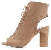 Charlotte Russe Lace-Up Block Heel Sandals
