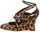 Alchimia Di Ballin Leopard Print Ankle-Strap Wedges