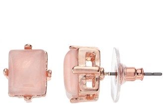 Lauren Conrad Runway Collection Pink Quartz Rectangle Stud Earrings