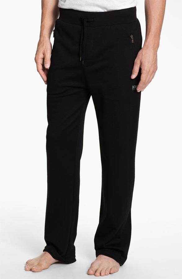 Boss Black Cotton Blend Lounge Pants