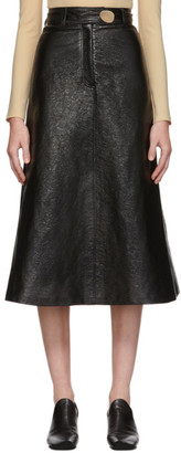 A.W.A.K.E. Mode Black Patent Back-To-Front Skirt