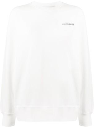 Golden Goose Logo Print Cotton Sweatshirt