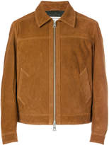 Ami Alexandre Mattiussi suede leather zipped jacket