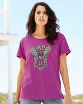 Fashion World Bird Print Jersey T-Shirt