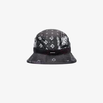Neighborhood X Porter-Yoshida & Co. Black bandana print bucket hat