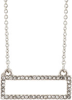 Lydell NYC Pave Crystal Rectangle Pendant Necklace, Silver