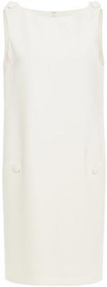 Oscar de la Renta Button-detailed Wool-blend Mini Dress
