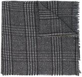 Hackett plaid raw edge scarf
