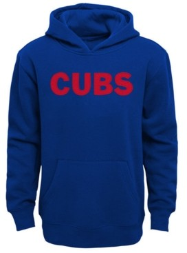 Outerstuff Little Boys Chicago Cubs Wordmark Pullover Fleece Hoodie
