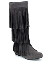 Refresh Gray Jolin Fringe Boot