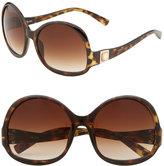 'Zeta  Oversized' Round Sunglasses