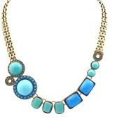 Layer Necklace with Stones and Crystals