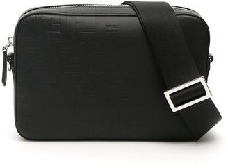 Fendi FF Embossed Messenger Bag