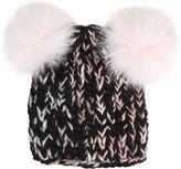 Eugenia Kim Mimi Wool Tricot Hat With Pompoms