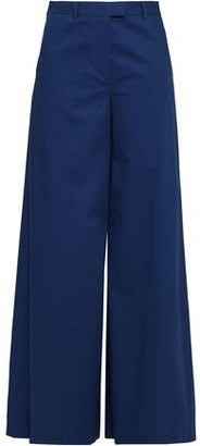 RED Valentino Stretch-cotton Twill Wide-leg Pants