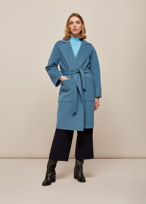Double Faced Wool Wrap Coat