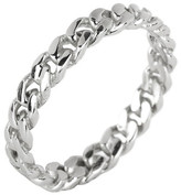 Argentovivo Sterling Silver Twisted Band Ring - Size 8
