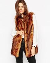 Asos Sleeveless Faux Fur Coat