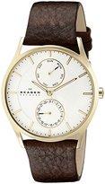 Skagen Men's SKW6066 Holst Dark Brown Leather Watch