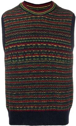Wales Bonner Stripe Knit Sweater Vest