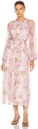 Zimmermann Super Eight Braid Midi Dress in Pink Poppy | FWRD