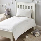 The White Company Elephants Bed Linen, White, Cot Bed