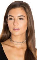 Natalie B x REVOLVE Sorella Choker in Metallic Silver.