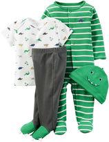Carter's 4-pc. Green Dino Layette Set - Baby Boys newborn-24m