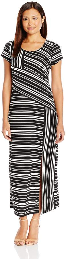 NY Collection Women's Petite Size Printed Cap Sleeve Maxi Dress, PM