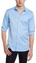 Atelier Privé Men's Slim Fit Long Sleeve Casual Shirt - Blue -