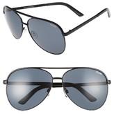 Quay Women's Vivienne 64Mm Aviator Sunglasses - Black/ Smoke