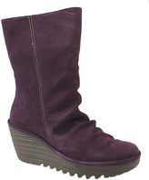 Fly London Purple Yara Suede Wedge Boot
