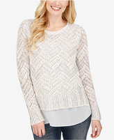 Lucky Brand Open-Knit Contrast Sweater