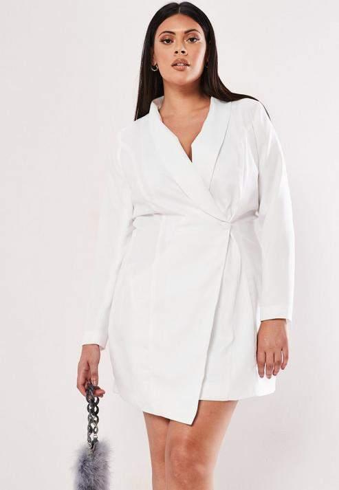 White Blazer Dress - ShopStyle