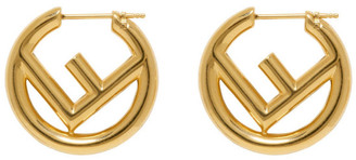 Fendi Gold F is Earrings