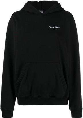 Sporty & Rich Embroidered-Logo Cotton Hoodie