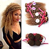Punzel's Brazilian 100% Unprocessed Human hair Extensions 27 Curly Wave Bundles 4pcs/Lot,12''14''16''18''